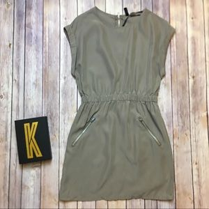 DIVIDED By H&M Taupe Zippered Dress Size 2